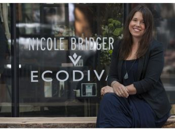 Vancouver, BC: April 29, 2016 -- Fashion designer Nicole Bridger at her gastown store in Vancouver, BC Friday, April 29, 2016. (Photo by Jason Payne/ PNG) (For story by Jenny Lee) [PNG Merlin Archive]