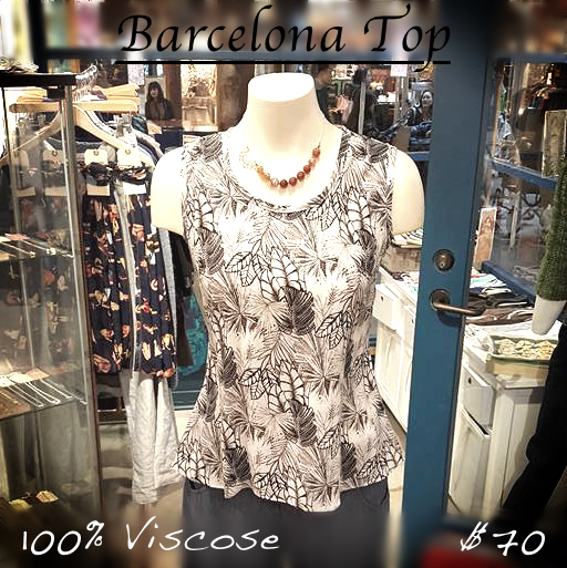Barcelona top front plain