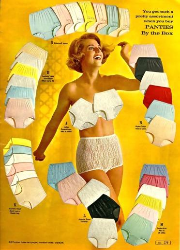 Bikini briefs in 50s and 60s