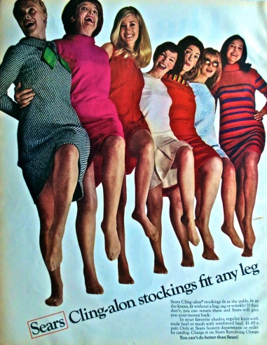 Vintage Advertisement 1960s Sears Pantyhose