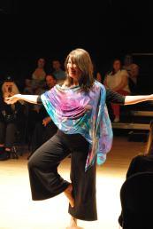Beverly Akhurst, Owner of Ocean Breath Yoga in Amity Silks.