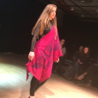Lauren wearing Wickininnish Gallery designs.