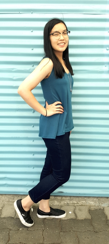 The Lani Tank is a great casual tank in this a-line cut.